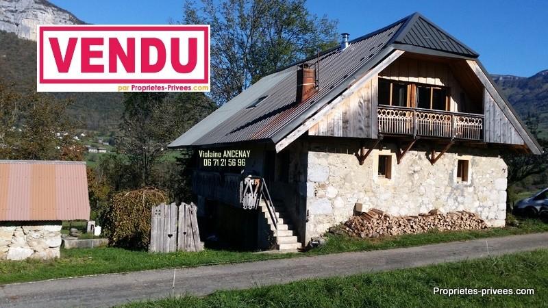 Ferme rénovée avec terrain à 15 mn de Chambéry