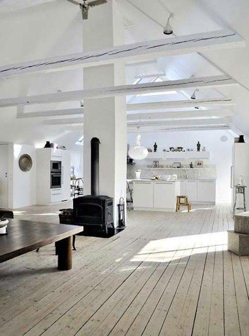 Rare! Vaste appartement style loft avec jardin