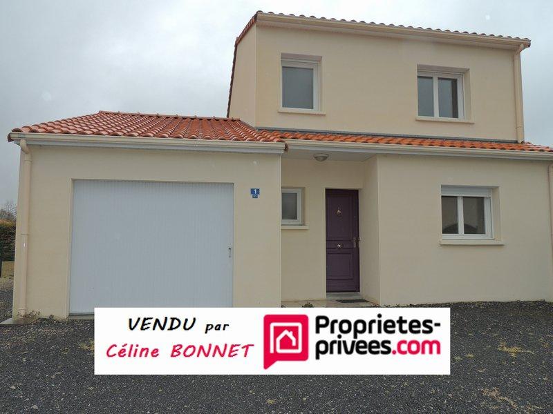 Maison bourg 82m², 2 chambres, bureau, garage