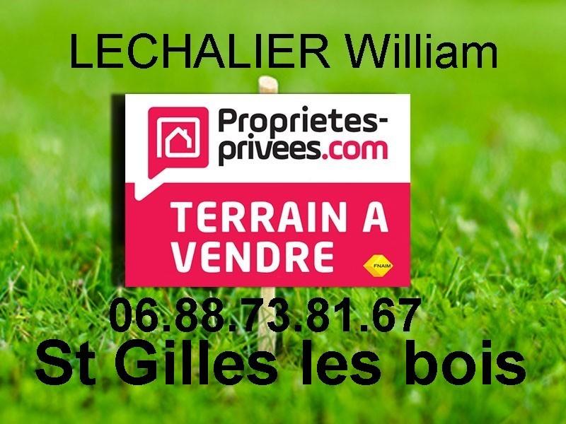TERRAIN CONSTRUCTIBLE 1065 m2 St Gilles les Bois