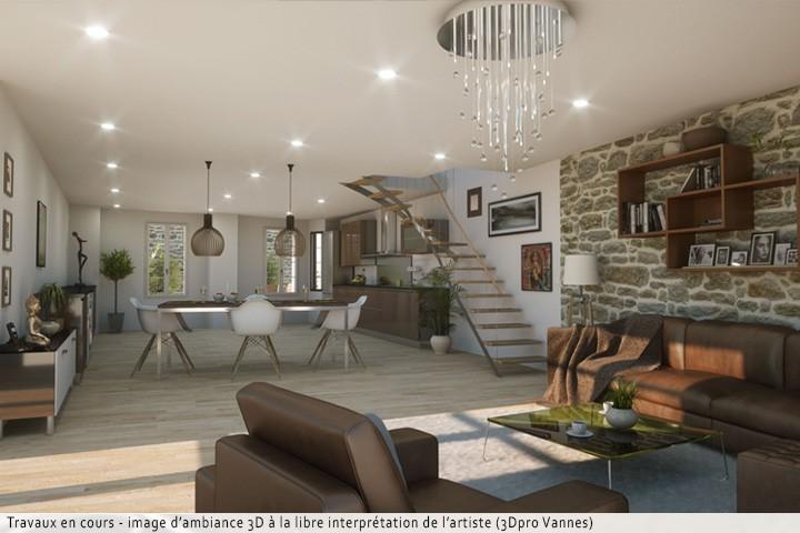 vente t4 111 m vannes 56000. Black Bedroom Furniture Sets. Home Design Ideas