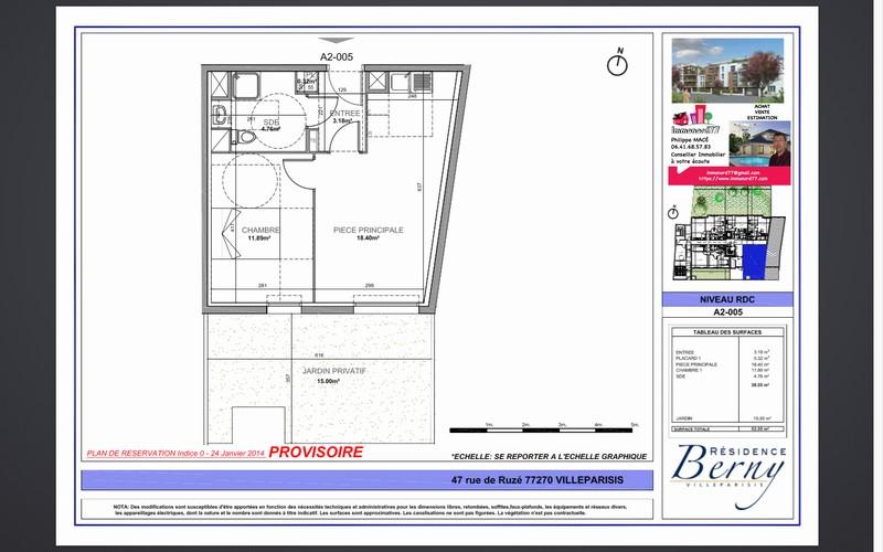 Appartement T3 - 60m2 - VILLEPARISIS (77270)