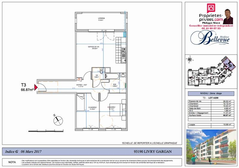 Appartement T3 - 62m2 - LIVRY GARGAN (93190)