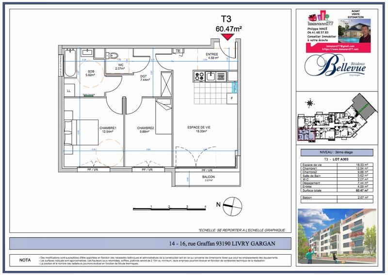 Appartement T4 - 79m2 - LIVRY GARGAN (93190)