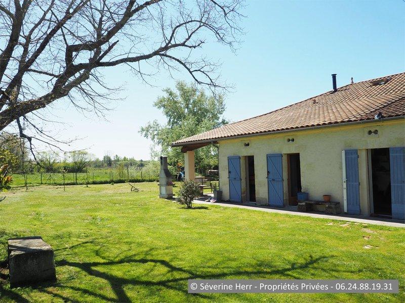 Maison 3 chambres 1.450m² terrain St Girons 33920