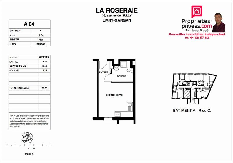 Appartement T1 - 23m2 - LIVRY GARGAN (93190)