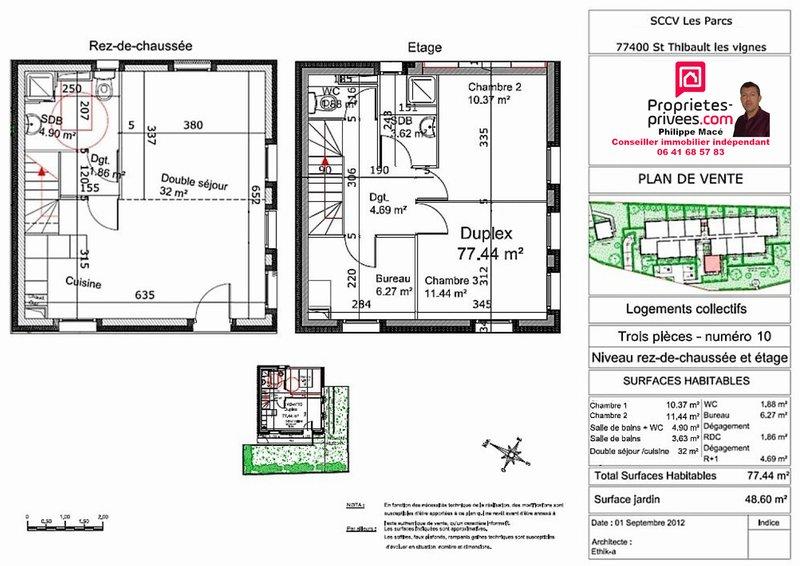 Appartement T3 Duplex-77m2-SAINT THIBAULT (77400)