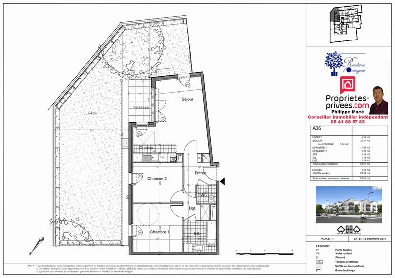 Appartement T3 - 59m2 - VIRY-CHÂTILLON (91170)