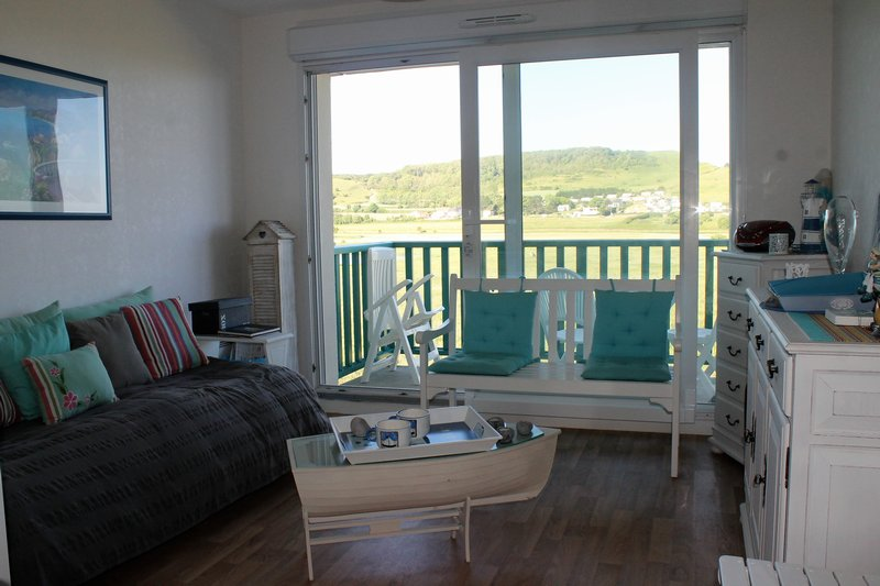 Appartement T2 + cabine - balcon - vue mer/falaise