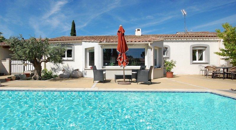 Villa plain-pied avec piscine près Carcassonne