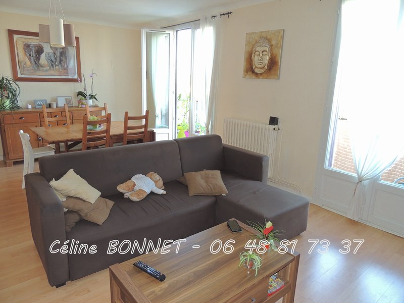 Appartement 89m², 3 chambres, cave, garage