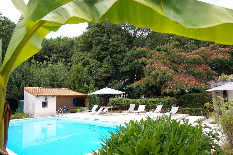 Maison d'architecte avec piscine et parc
