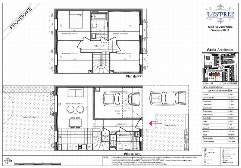 Maisons 3/4/5 pièces - 60/77/90m2 VAUJOURS (93410)