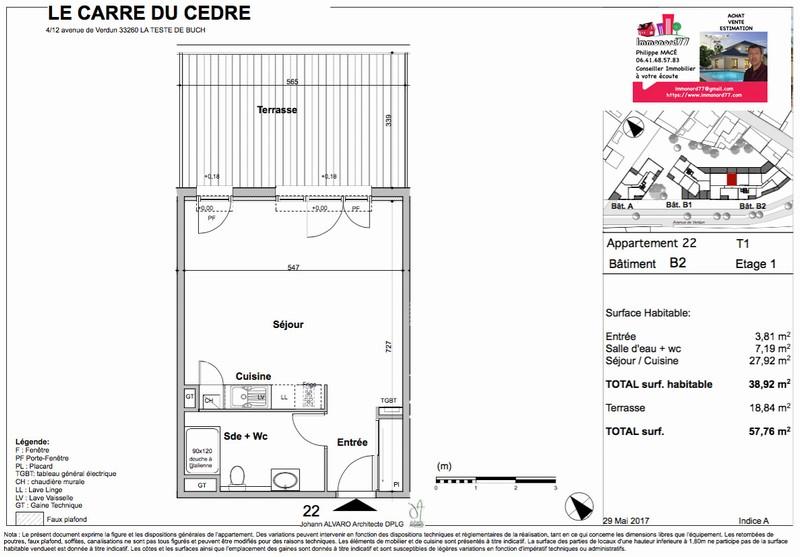 Appartement T1 - 38m2 - LA TESTE DE BUCH (33260)