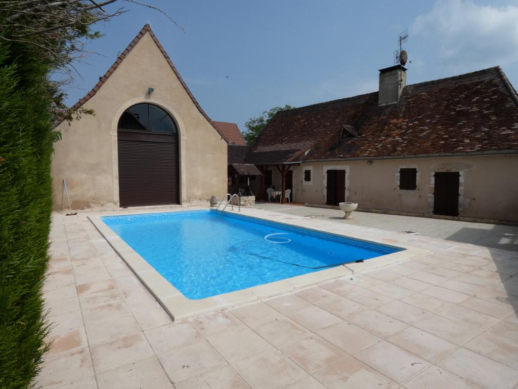 Maison 120m²/gîte 50m² /piscine/ terrain 7500m²
