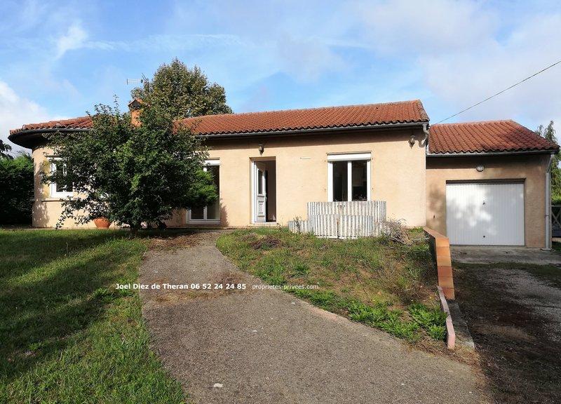 Maison plain-pied  centre Bouloc 110m² plus garage