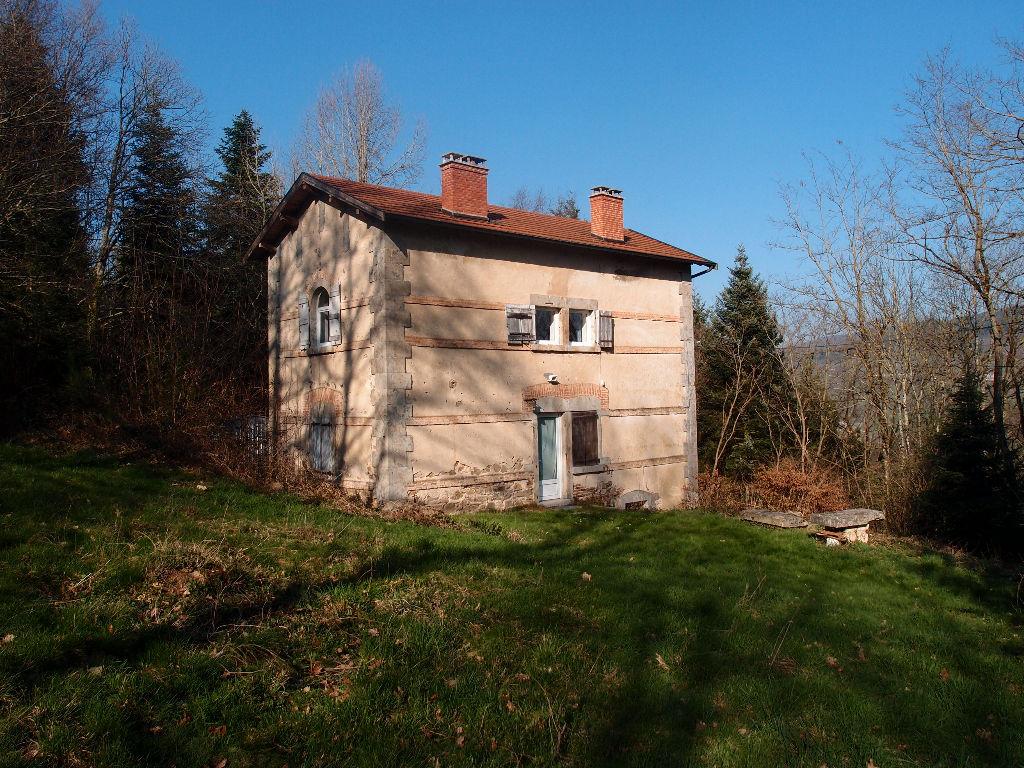 Maison en pierres en pleine nature