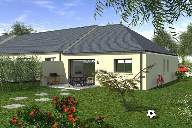 Maison neuve plain-pied et jardin, en centre-ville