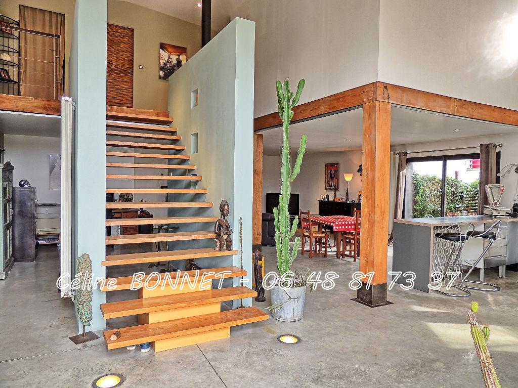 Loft 174m², 3 chambres, jardin