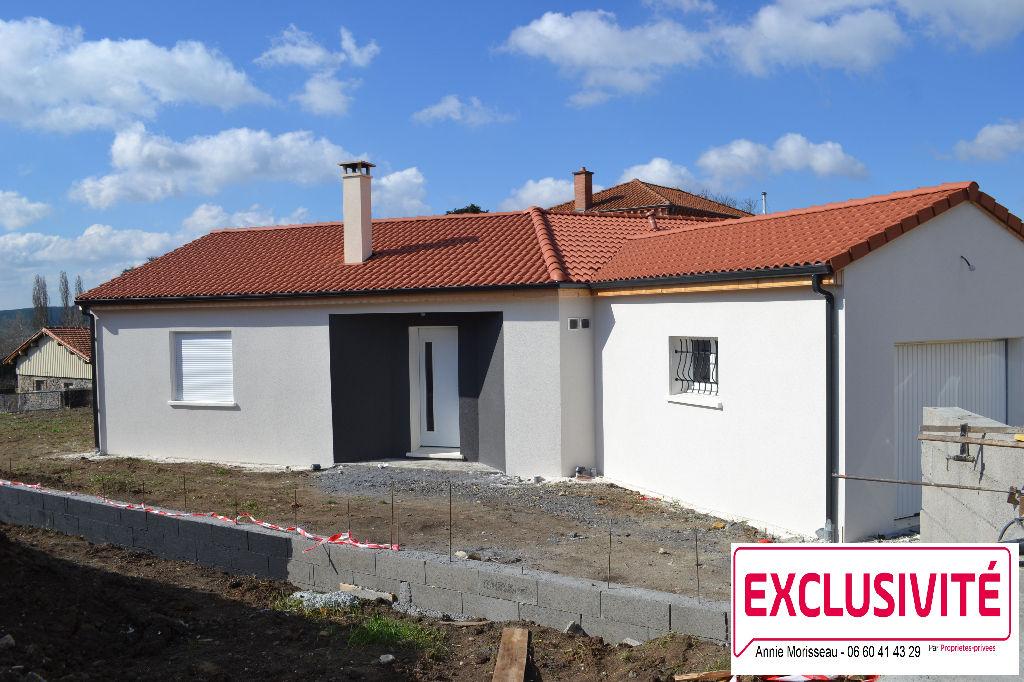 63 Issoire - Maison neuve plain-pied 108 m², 5 pièces, garage, terrain 800 m²