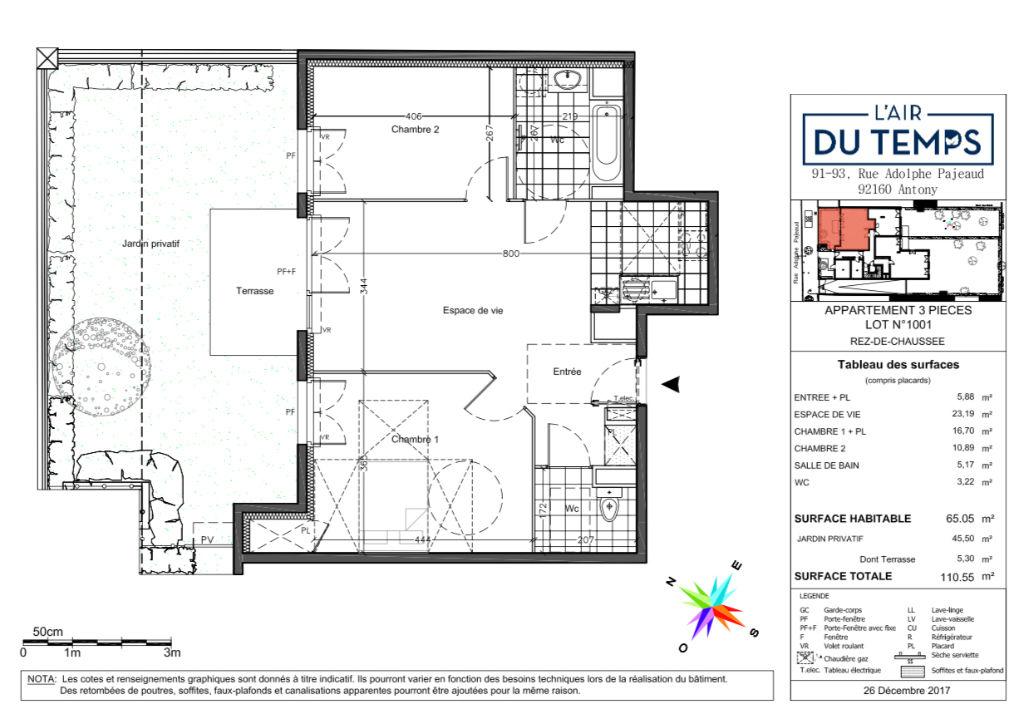 Appartement T3 - 65m2 - ANTONY (92160)