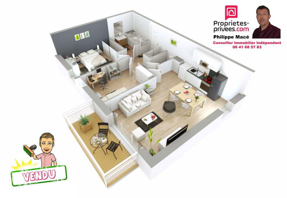 Appartement T3 - 56m2 - ST SOUPPLETS(77165)