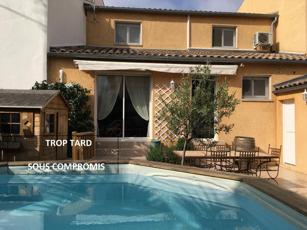Maison Beziers 4 pièce(s) 110 m2 avec 190m² de jardin et piscine, garage