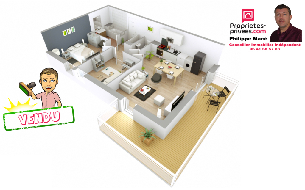 Appartement T3 - 59m2 - ST SOUPPLETS(77165)