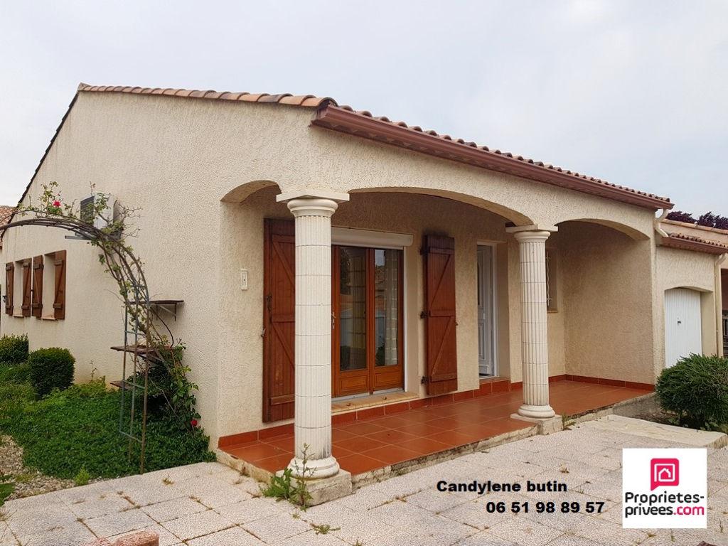 Villa  83m2 plein pied+garage sur terrain de 267m²
