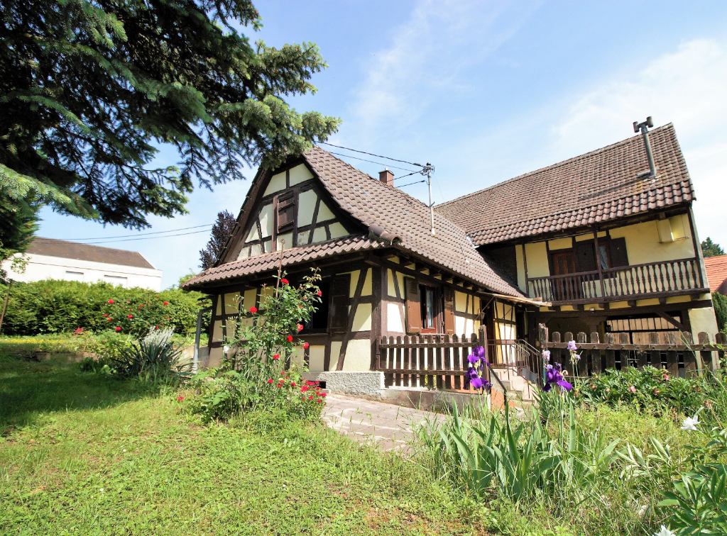 Maison Alsacienne + grange sur un terrain de 11 ares