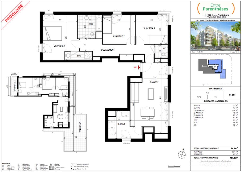 Appartement T4 - 84m2 - LES PAVILLONS SOUS BOIS (93320)