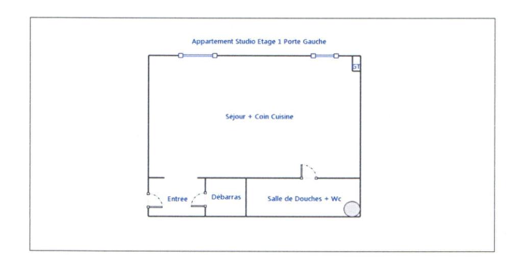 Appartement Reims 1 pièce(s) 25 m2