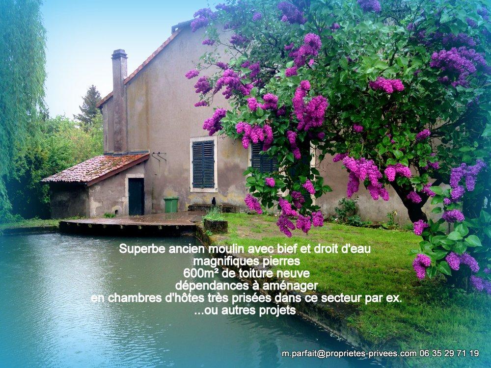 55210 VIGNEULLES LES HATTONCHATEL, Moulin 750 m² avec ses dépendances sur 3626m² et rivière,4 pièces, 193 500