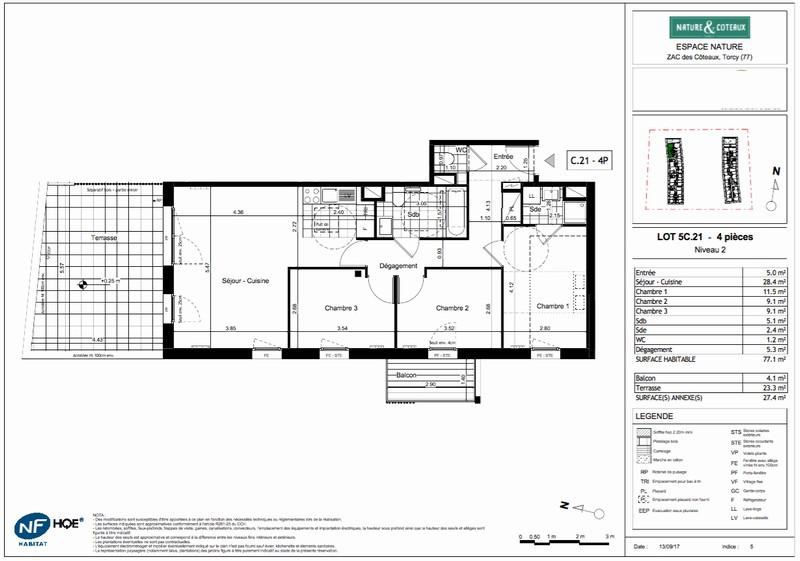 Appartement T4 - 77m2 - TORCY (77200)