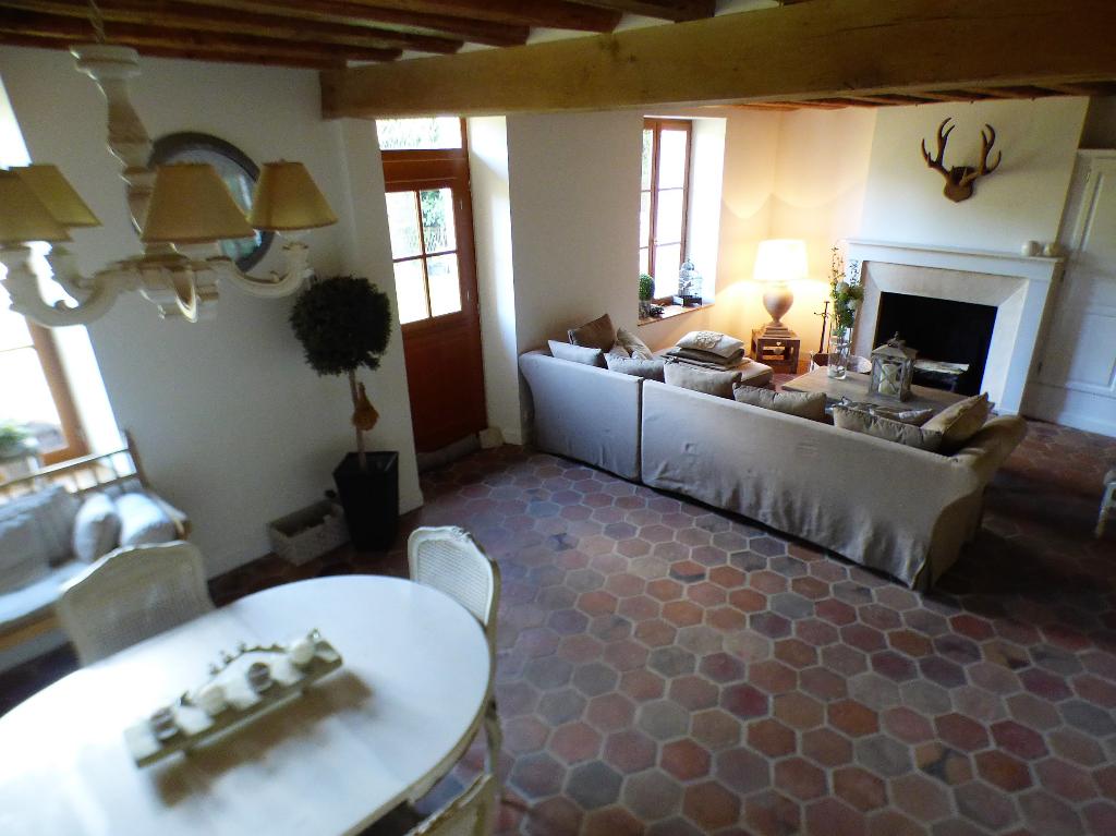 NONANCOURT 27320 Maison individuelle style longère - 1 étage - 3 chambres (possibilité 4) - Appentis en bois - Terrain au prix de 239 000  HAI