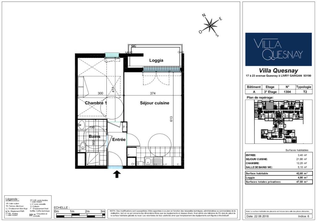 Appartement T2 - 42m2 - LIVRY GARGAN (93190)