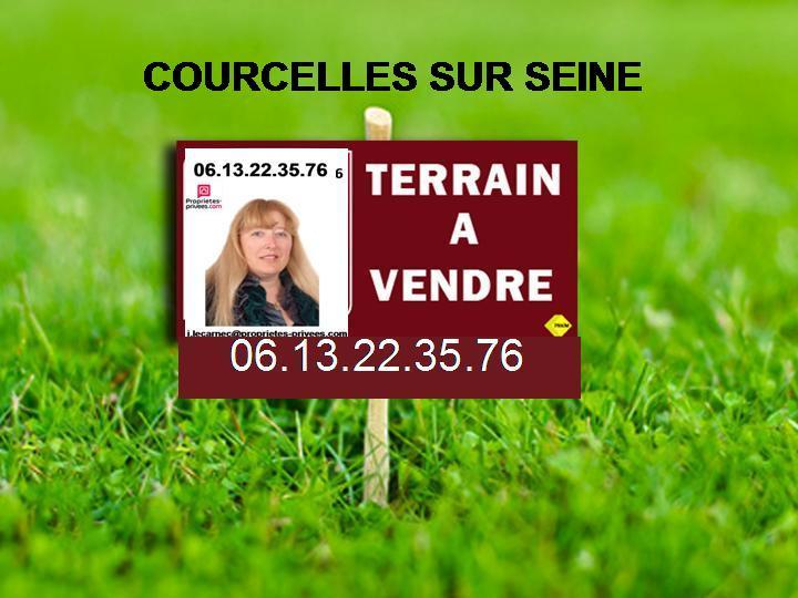 COURCELLES/SEINE - TERRAIN A BATIR PLAT ET VIABILISE DE  709M2  70.990