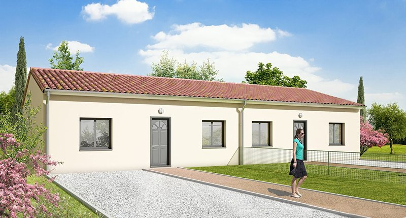 Maison 2 chambres + garage à Pugnac (33710)
