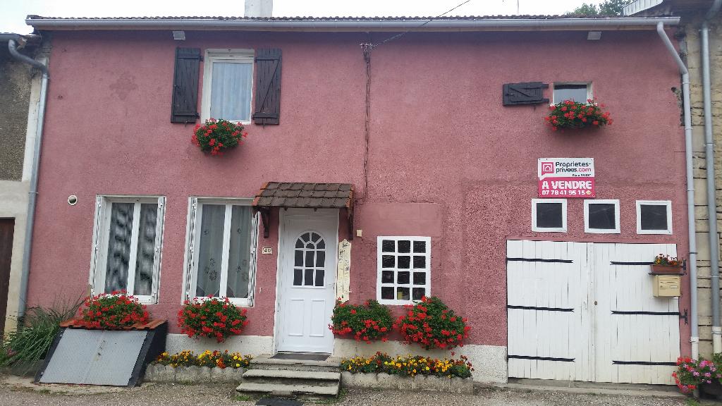 Maison de Pays en Pierre de 85 m2 à Conforter avec Cave, Garage et Terrasse donnant sur un Terrain arboré et fleuri de 180 m²