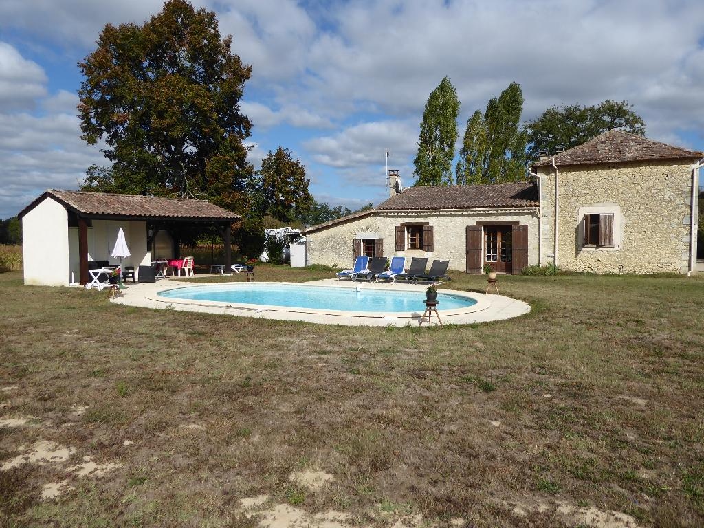 Aquitaine 47410 Ancien corps de ferme  6 pièce(s) 170 m2 à la campagne
