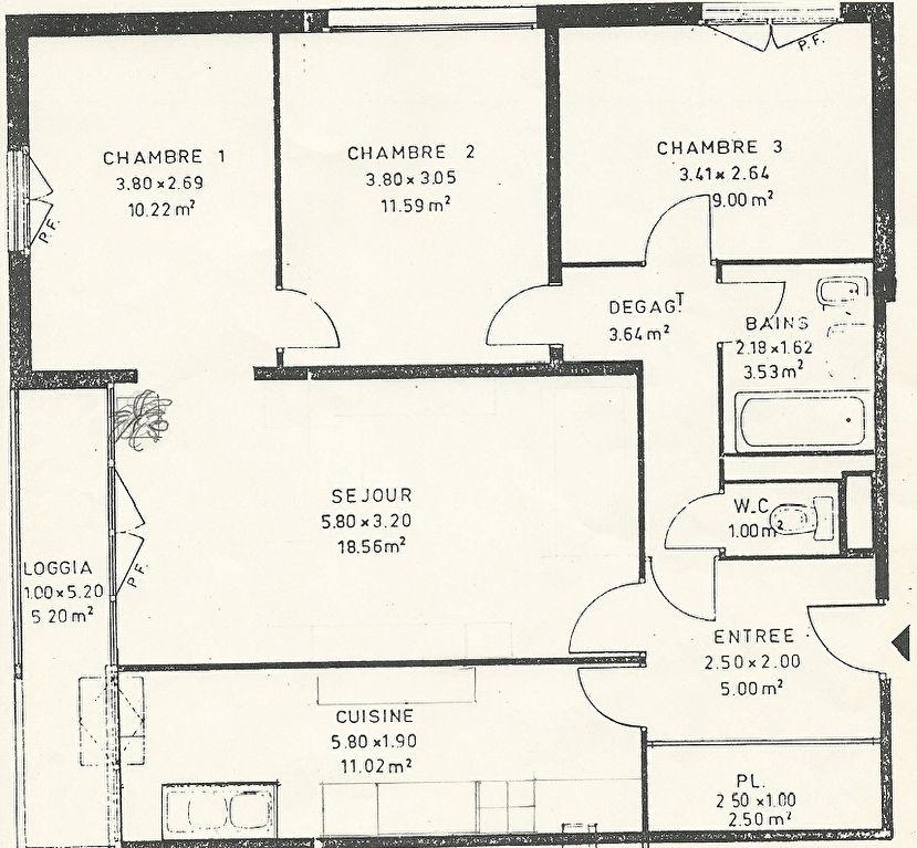 Appartement familliale Gennevilliers 4 pièces 78 m2