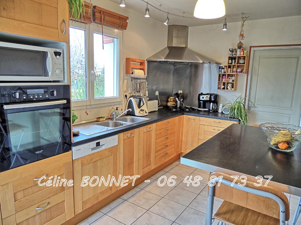 Maison 140m², 3 chambres (4 poss), garage double