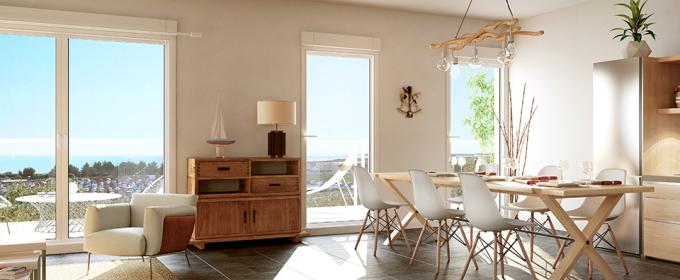 La Rochelle (17) Appartement Neuf 3 pièce(s) 60.60m2 avec jardin 71.40m2