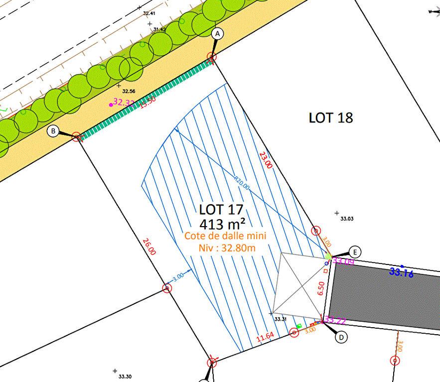 Ligné - Terrains viabilisés en Lotissement à 15 mn  de Carquefou et d'Ancenis