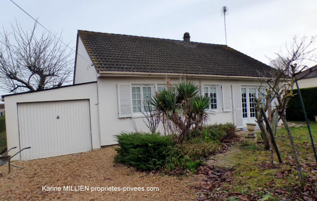DREUX 28100 Maison individuelle de plain pied - 3 chambres - Garage - Terrain divisible et constructible - 190 000  HAI