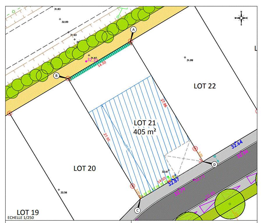 Carquefou- Terrains viabilisés en Lotissement à 15 mn