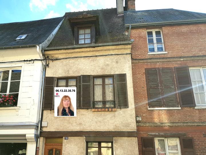Le petit  Andelys proche Seine maison d'habitation de 64 m2 Prix : 115.990