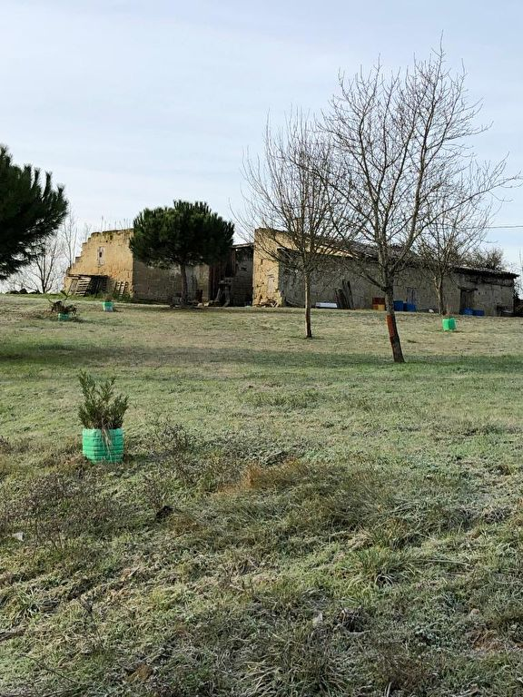 Tombeboeuf 47 : Maison en pierre (murs) à reconstruire sur terrain d'environ 1000m2