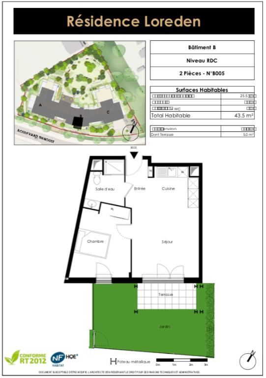 Appartement T2 - 43m2 - SERRIS (77700)