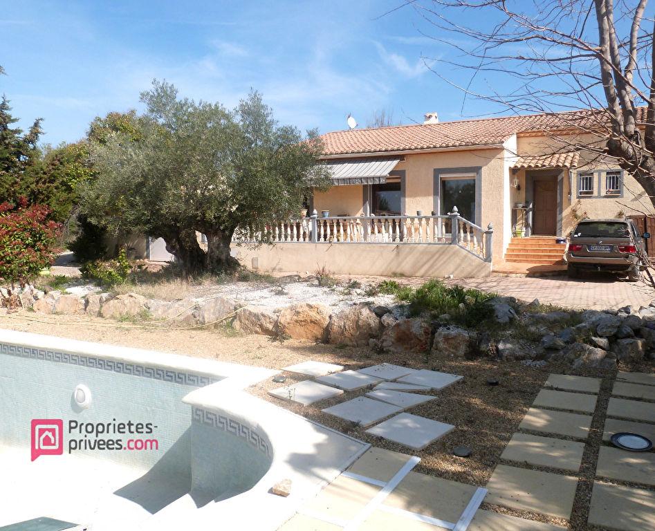 Cers Villa plain pied 145+dépendance 80 m², piscine, terrain 1600 m², grand garage